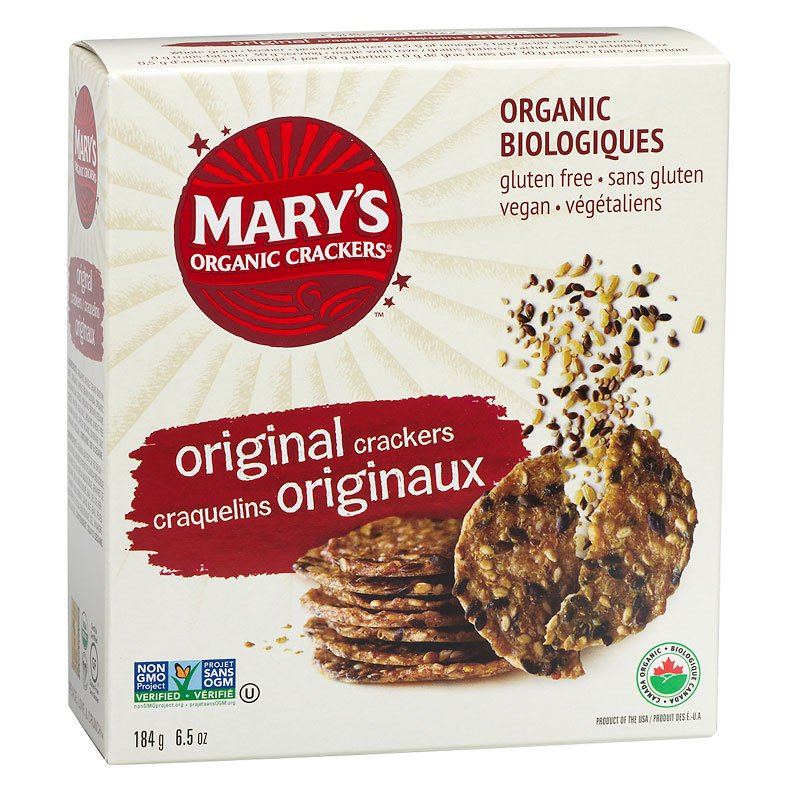 Mary's Organic Crackers Original - Gluten Free (184g)