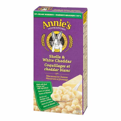 Annies All Natural Mac & Cheese Shells White Cheddar (170g)