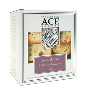 Ace Bakery Crisps Olive Oil & Sea Salt (180g)