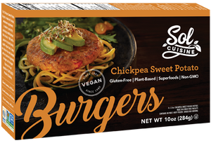 Sol Cuisine Meatless Chickpea Sweet Potato Burger - Gluten Free - Kosher (284g)