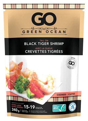 Green Ocean Black Tiger Shrimp CPTO 21/25cnt Frozen (340g)