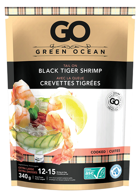 Green Ocean Black Tiger Shrimp CPTO 16/20cnt Frozen (340g)