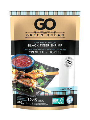 Green Ocean Black Tiger Shrimp Raw Frozen (340g)