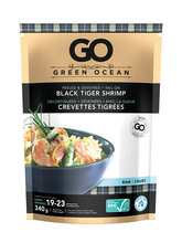 Load image into Gallery viewer, Green Ocean Black Tiger Shrimp Raw Frozen (340g)