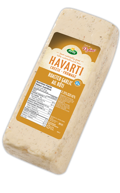 Arla Dofino Roasted Garlic Havarti Cheese (Thin Deli Sliced)