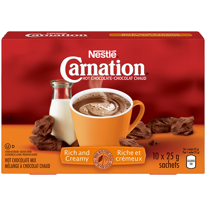 Carnation Rich and Creamy Hot Chocolate (250g)