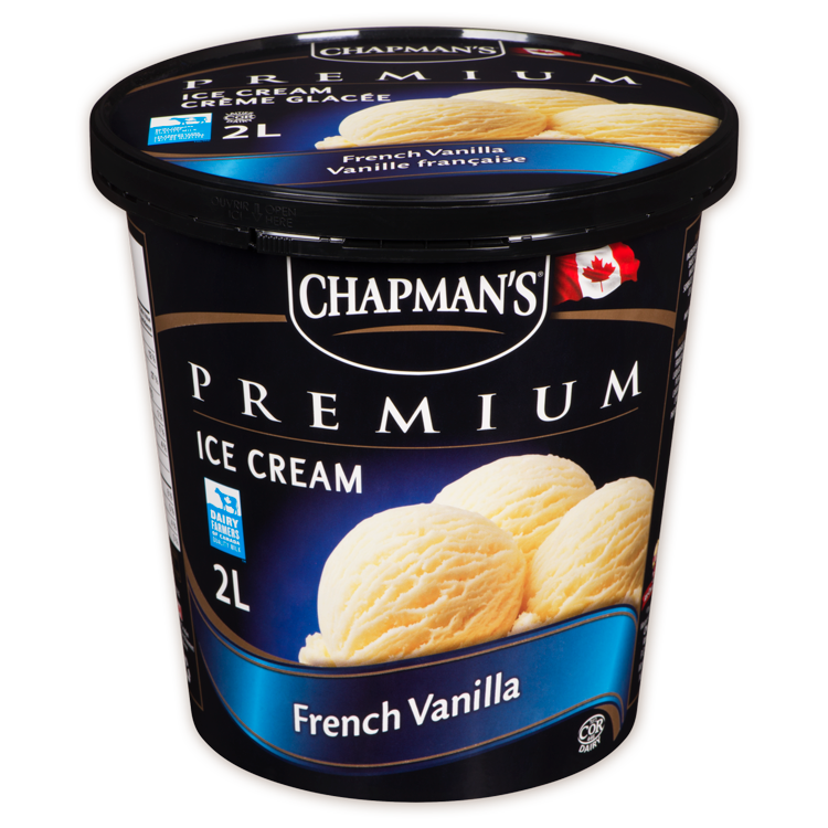 Chapman's Premium French Vanilla Ice Cream (2L)