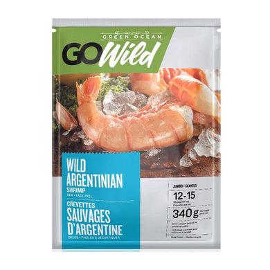 GO Wild Raw Argentine Easy Peel Shrimp 16/20cnt Frozen (340g)