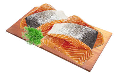 Atlantic Salmon Portions - Fresh Skin On