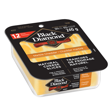 Black Diamond Natural Cheese Slices (220g)