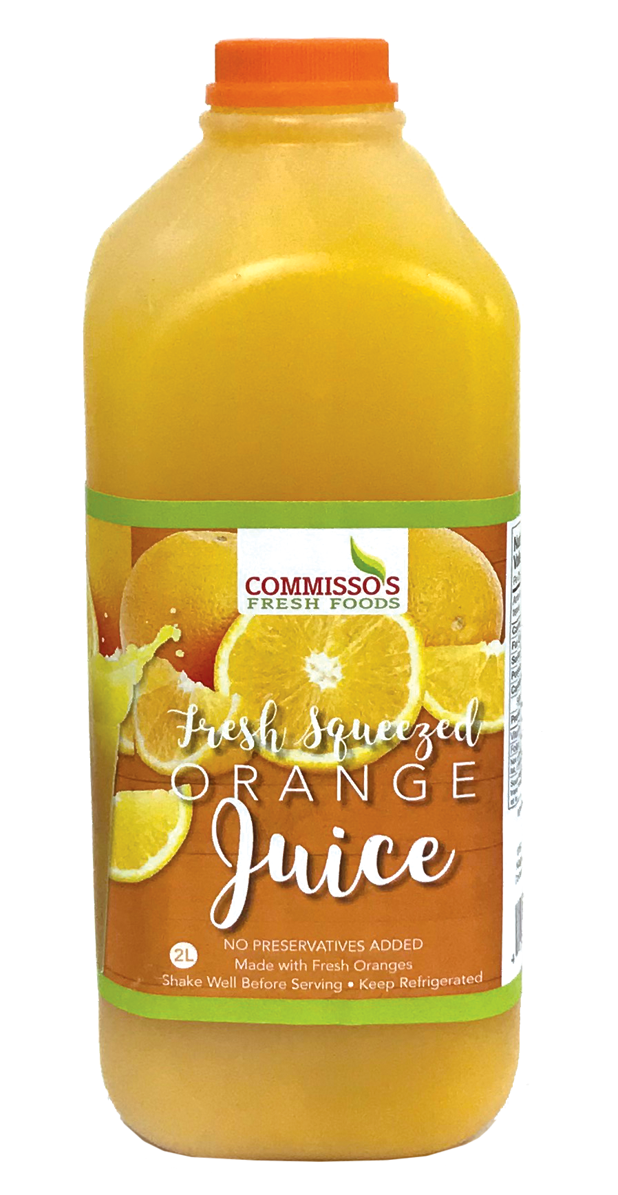 Commisso's Orange Juice - 2 Litre