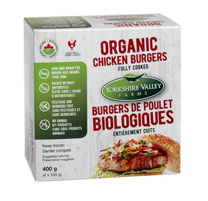 Yorkshire Valley Organic Chicken Burgers Fully Cooked (400g)
