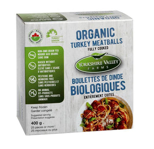 Yorkshire Valley Organic Turkey Meatballs Fully Cooked (400g)