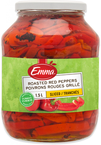 Emma Roasted Red Peppers (1.5L)