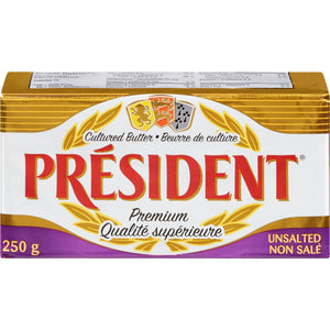 President Premium Cultured Butter - Unsalted (250g)