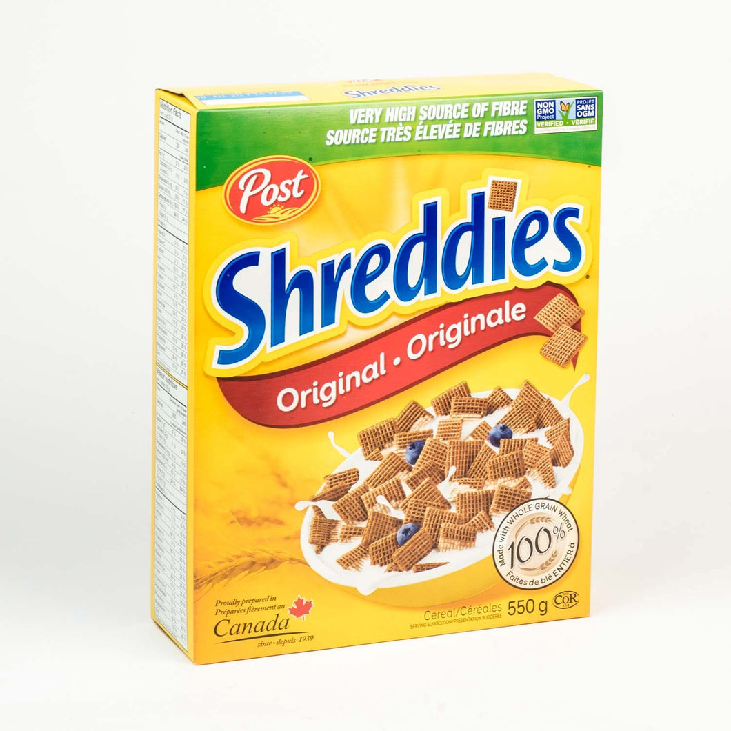 Shreddies Cereal 100% Whole Wheat (550g)