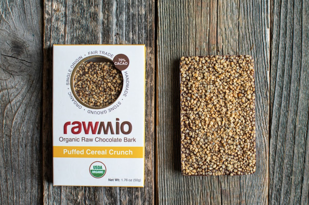 Organic Puffed Cereal Crunch Chocolate Bar