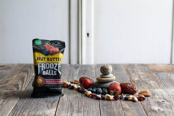 Nut Butter Berry Brownie Frooze Balls