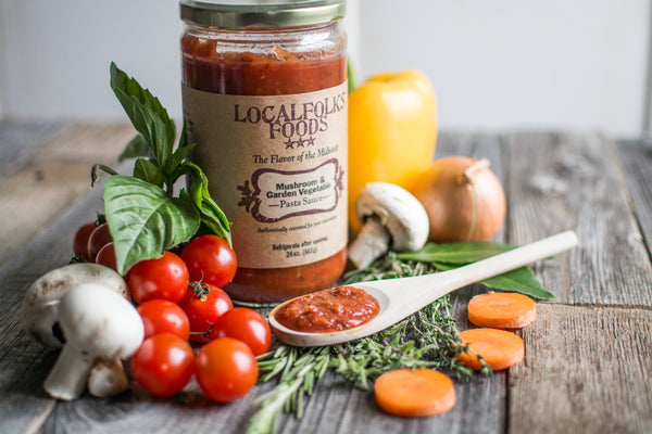 Mushroom & Garden Vegetable Pasta Sauce