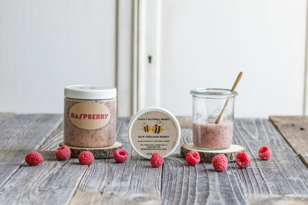 Raspberry Creamed Honey