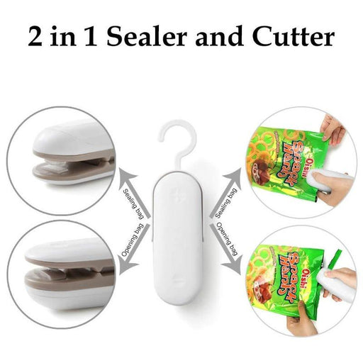 2 in 1 Instant Food Sealer and Cutter