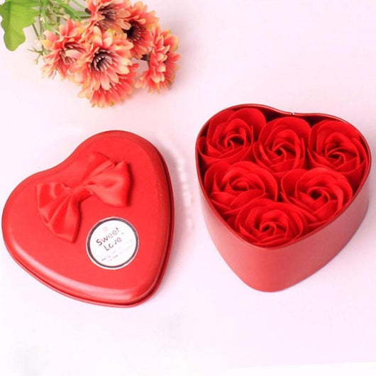 Scented Bath Soap w/Heart Shape Box