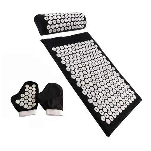 Acupuncture Mat Pillow Gloves Set