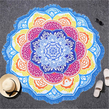 Load image into Gallery viewer, Chakra Beach Towel with Tassels