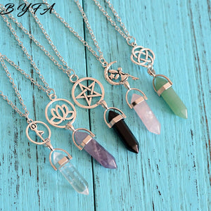 Natural Stone Crystal Necklace