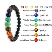 Load image into Gallery viewer, 7 Chakra Natural Bead Bracelet