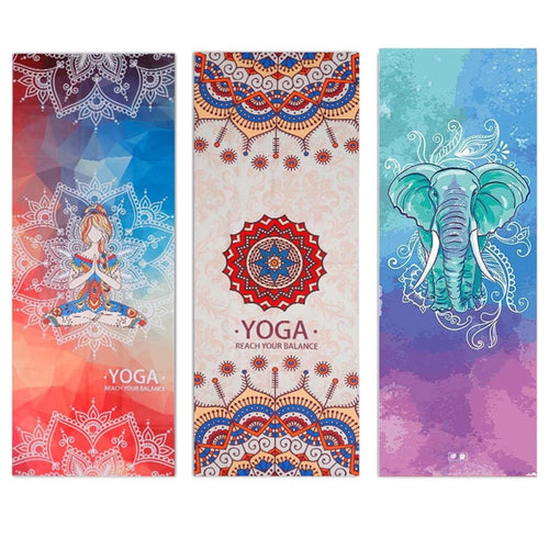 Non Slip  Printed Yoga Towel