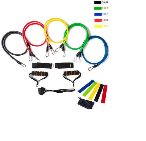 17pc Resistance Bands Set
