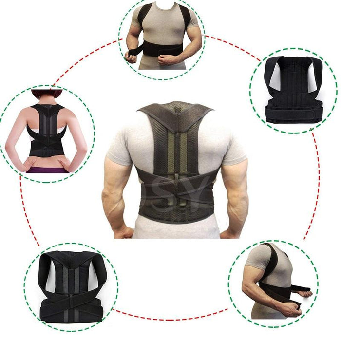 Posture Corrector With Back Brace