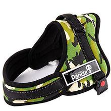 Load image into Gallery viewer, Dog Harness Padded Adjustable / Retractable Nylon Black Red Camouflage Color
