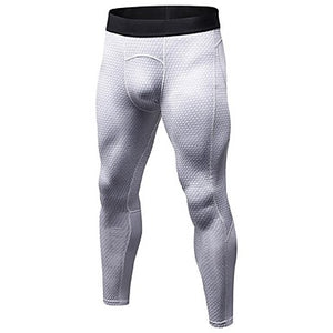 Men's Running Tights Compression Pants Gym Leggings 3D Sports Compression Clothing Tights Running Fitness Jogging Bike / Cycling Gym Workout Trail Lightweight Breathable Quick Dry Geometric Dot Snake