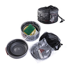 Load image into Gallery viewer, Naturehike Camping Cookware Mess Kit Set 9pcs Portable for 2 - 3 person Aluminium Outdoor Camping / Hiking Hunting Outdoor 2 * Camping Pot 1 * Bamboo Shovel 3 * Bowl 1 * Soup Ladle 1 * Camping Fry Pan