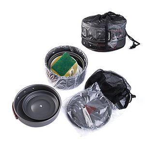 Naturehike Camping Cookware Mess Kit Set 9pcs Portable for 2 - 3 person Aluminium Outdoor Camping / Hiking Hunting Outdoor 2 * Camping Pot 1 * Bamboo Shovel 3 * Bowl 1 * Soup Ladle 1 * Camping Fry Pan