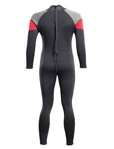 Bluedive Men's Women's Full Wetsuit 3mm Neoprene Diving Suit Thermal / Warm Quick Dry Long Sleeve Back Zip - Swimming Diving Surfing Patchwork / Stretchy
