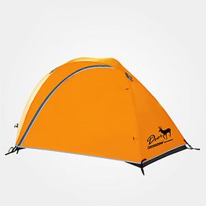 LONGSINGER 2 person Family Tent Outdoor Breathability YKK Zipper Double Layered Poled Camping Tent 2000-3000 mm for Camping / Hiking / Caving Traveling Nylon 225*135/203/95*107 220*130/198/90*102 cm