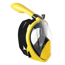 Load image into Gallery viewer, Snorkel Mask Underwater Single Window - Swimming Silicone - For Adults Orange / 180 Degree View / Leak-Proof / Anti Fog