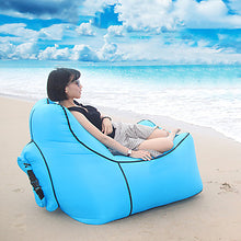Load image into Gallery viewer, Air Sofa Inflatable Sofa Sleep lounger Air Bed Outdoor Waterproof Portable Lightweight Fast Inflatable Nylon 110*90*45 cm Beach Camping Outdoor Spring, Fall, Winter, Summer Red Blue Violet
