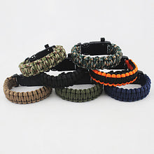 Load image into Gallery viewer, Paracord Bracelet Survival Bracelet Whistle Tactical Adjustable Emergency Nylon Camping / Hiking Hunting Fishing Outdoor Travel Green+Lime