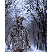 Load image into Gallery viewer, Men's Hunting Jacket with Pants Hunting Suit Camo / Camouflage Outdoor Thermal / Warm Waterproof Windproof Breathable Winter Fleece Cotton Elastane Winter Jacket Hoodie Jacket and Pants Top Camping