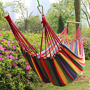 Camping Hammock Outdoor Flexible Folding Canvas leather for Camping Team Sports Rose Red Blue Cream 200*100 cm