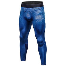 Load image into Gallery viewer, Men's Running Tights Compression Pants Gym Leggings 3D Sports Compression Clothing Tights Running Fitness Jogging Bike / Cycling Gym Workout Trail Lightweight Breathable Quick Dry Geometric Dot Snake