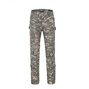 Men's Camouflage Hunting Pants Thermal / Warm Windproof Ventilation Anti-Wear Spring Fall Winter Camo / Camouflage Pants / Trousers Bottoms for Camping / Hiking Hunting Climbing Camouflage Gray Army