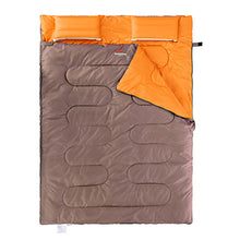 Load image into Gallery viewer, Naturehike Double Sleeping Bag with 2 Pillows Outdoor Double Wide Bag 5~15 °C Double Size Cotton Warm Moistureproof Ultra Light (UL) Dust Proof 210*145 cm 2 Person Hiking Beach Camping Traveling