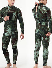Load image into Gallery viewer, MYLEDI Men's Full Wetsuit 3mm SCR Neoprene Diving Suit Thermal / Warm Waterproof Long Sleeve Back Zip - Swimming Diving Surfing Camo / Camouflage Spring Summer Fall / Winter