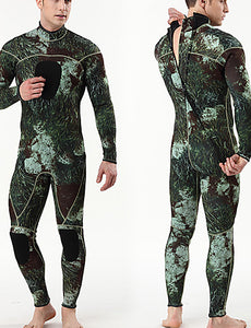 MYLEDI Men's Full Wetsuit 3mm SCR Neoprene Diving Suit Thermal / Warm Waterproof Long Sleeve Back Zip - Swimming Diving Surfing Camo / Camouflage Spring Summer Fall / Winter