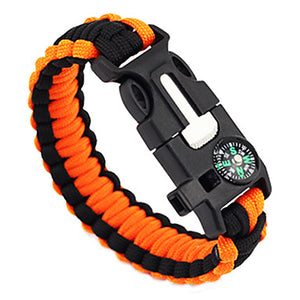 Paracord Bracelet Survival Bracelet Whistle Tactical Adjustable Emergency Nylon Camping / Hiking Hunting Fishing Outdoor Travel Green+Lime